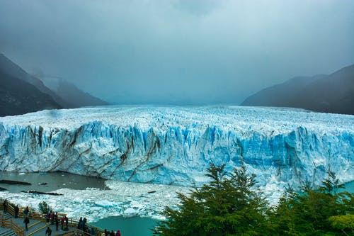 Amazing scenery of glacier in mountainous area
