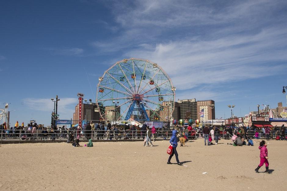 attraction, beach, boardwalk