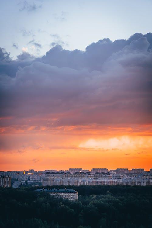 Photos gratuites de aube, bleu, brillant, coucher de soleil