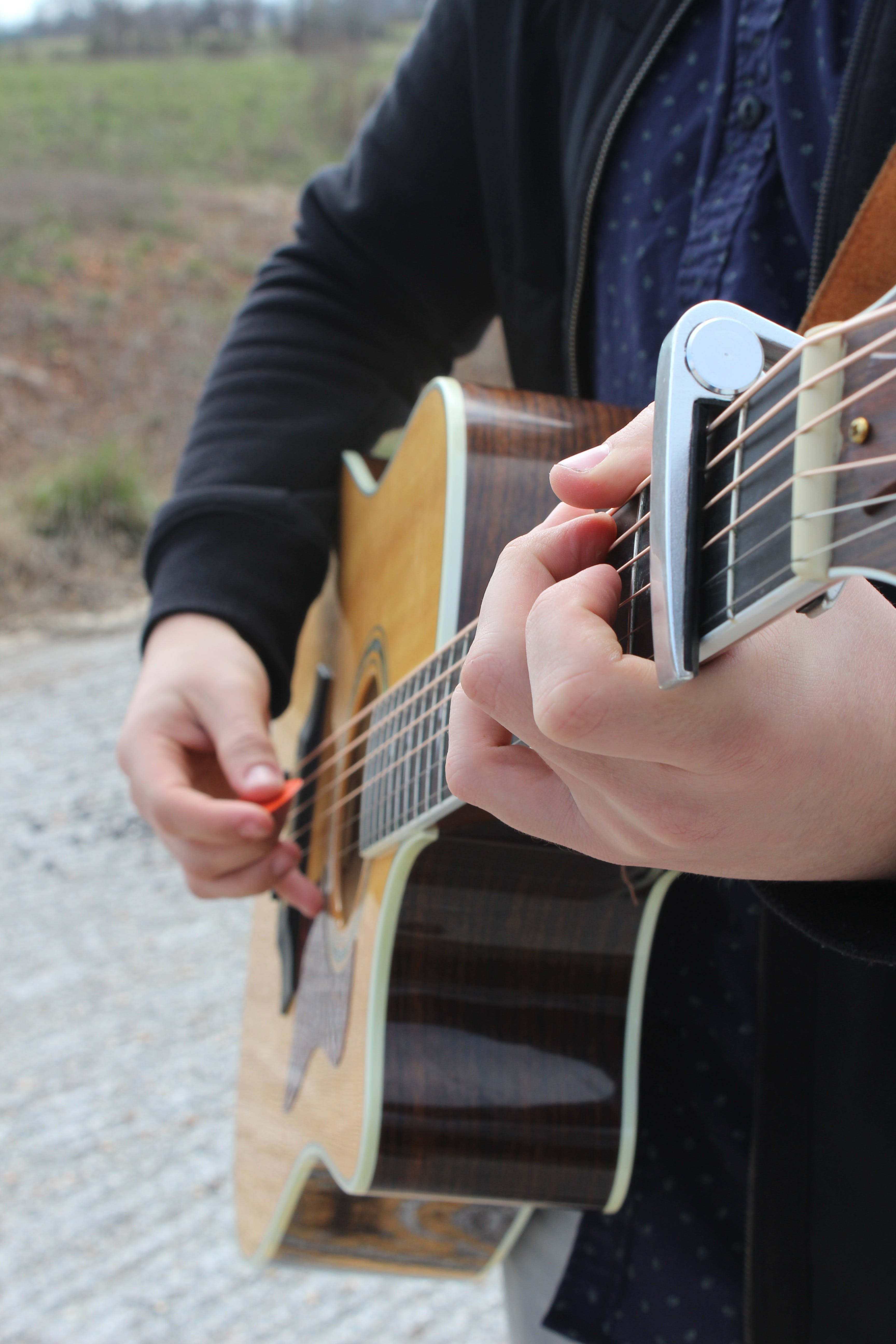 Free stock photo of acoustic, acoustic guitar, audio, brown