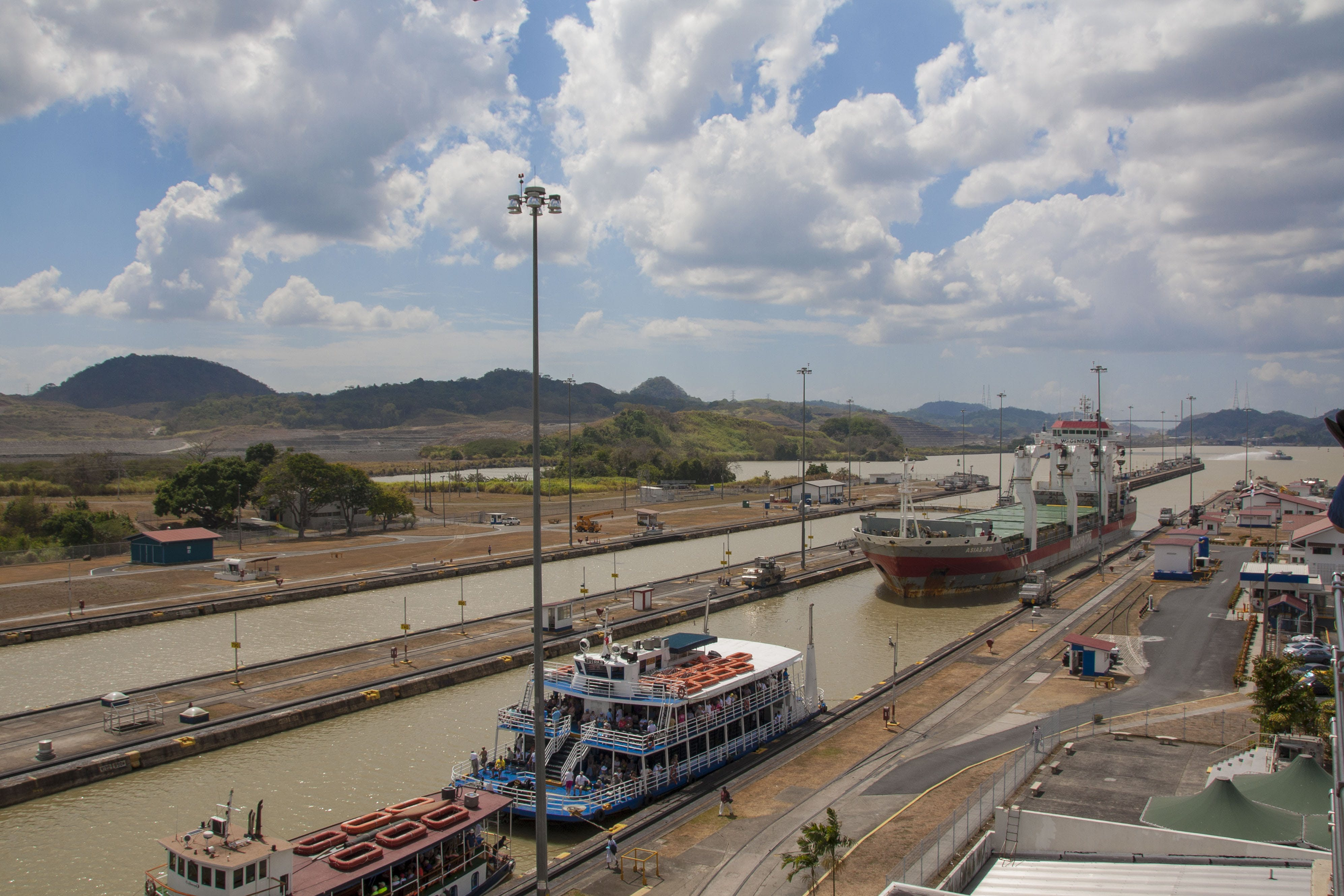 Free stock photo of canal, industrial, panama, panama canal