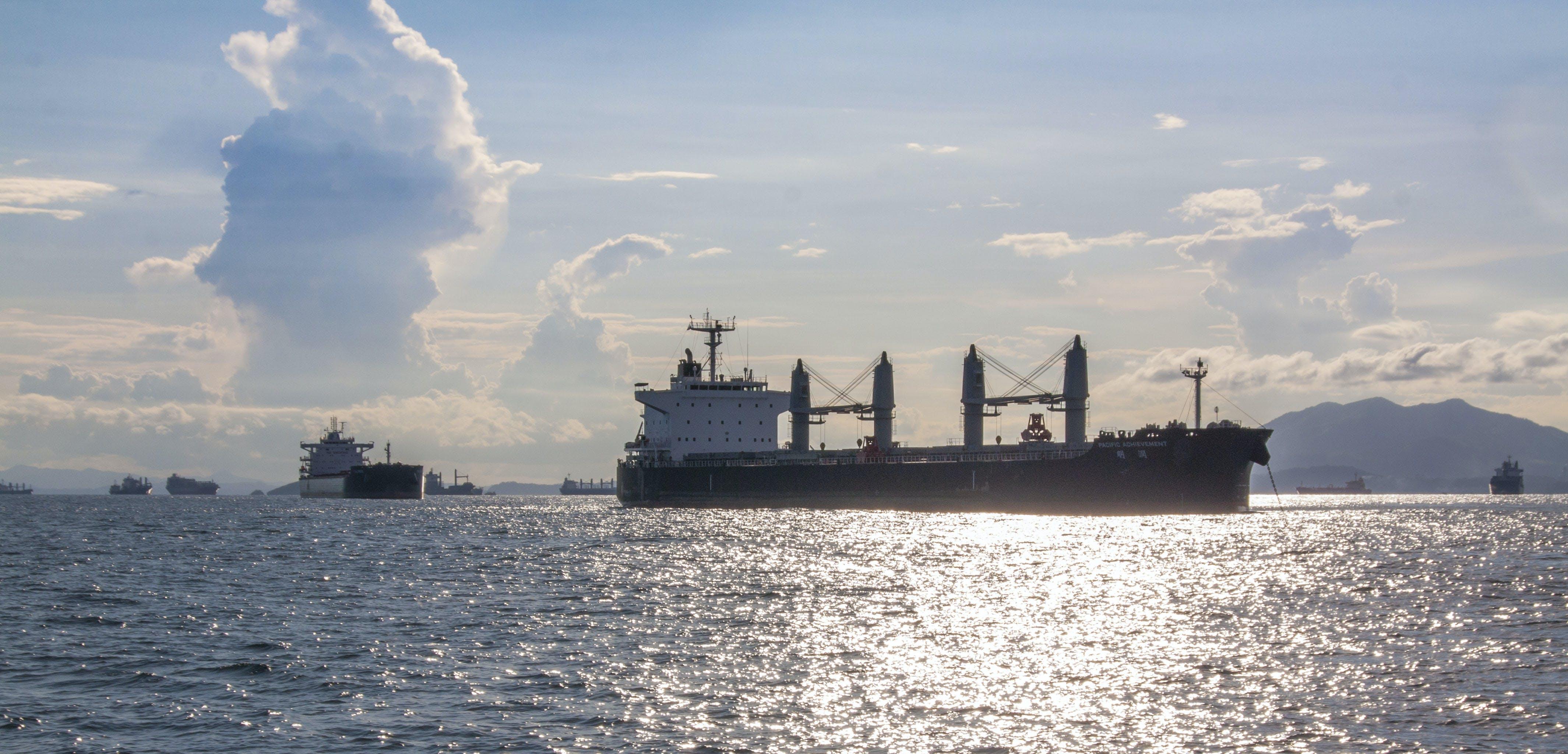 Free stock photo of cargo, panama, ships, sundown