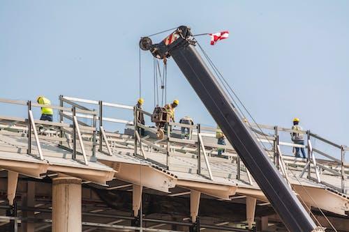 Foto stok gratis atap, baja, Bandara, konstruksi