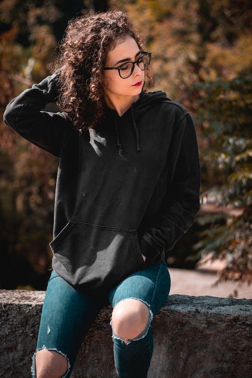 Free stock photo of beautiful girl, black, curly