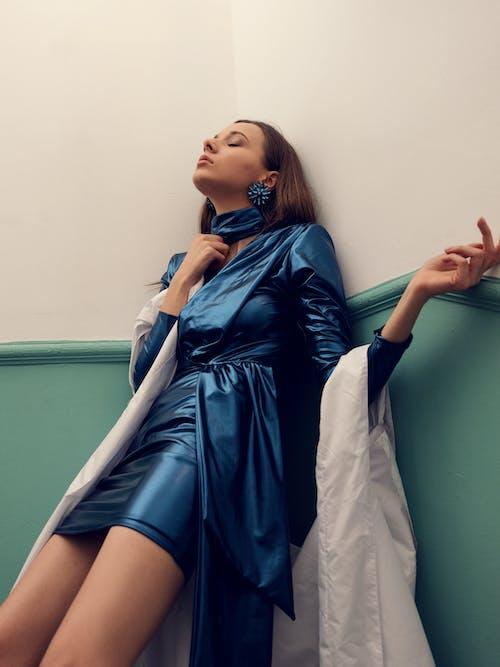 Imagine de stoc gratuită din cu ochii inchisi, editorial fashion, eșarfă