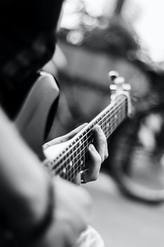 Free stock photo of black-and-white, hands, blur, music