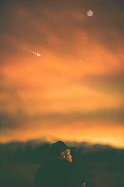 boy, golden hour, grass