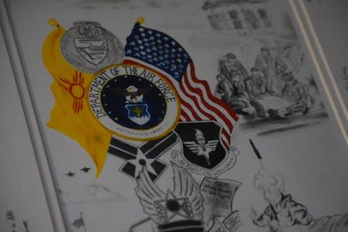 Základová fotografie zdarma na téma Americká vlajka, Amerika, kresba, letectvo