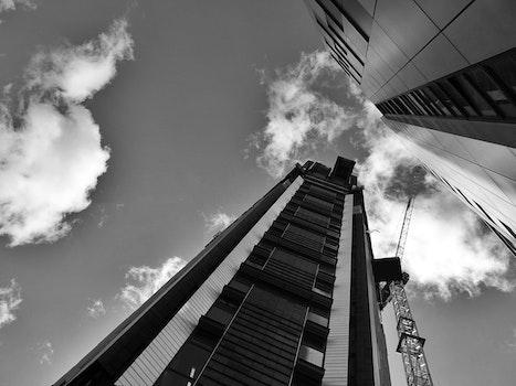 Free stock photo of light, black-and-white, city, sky