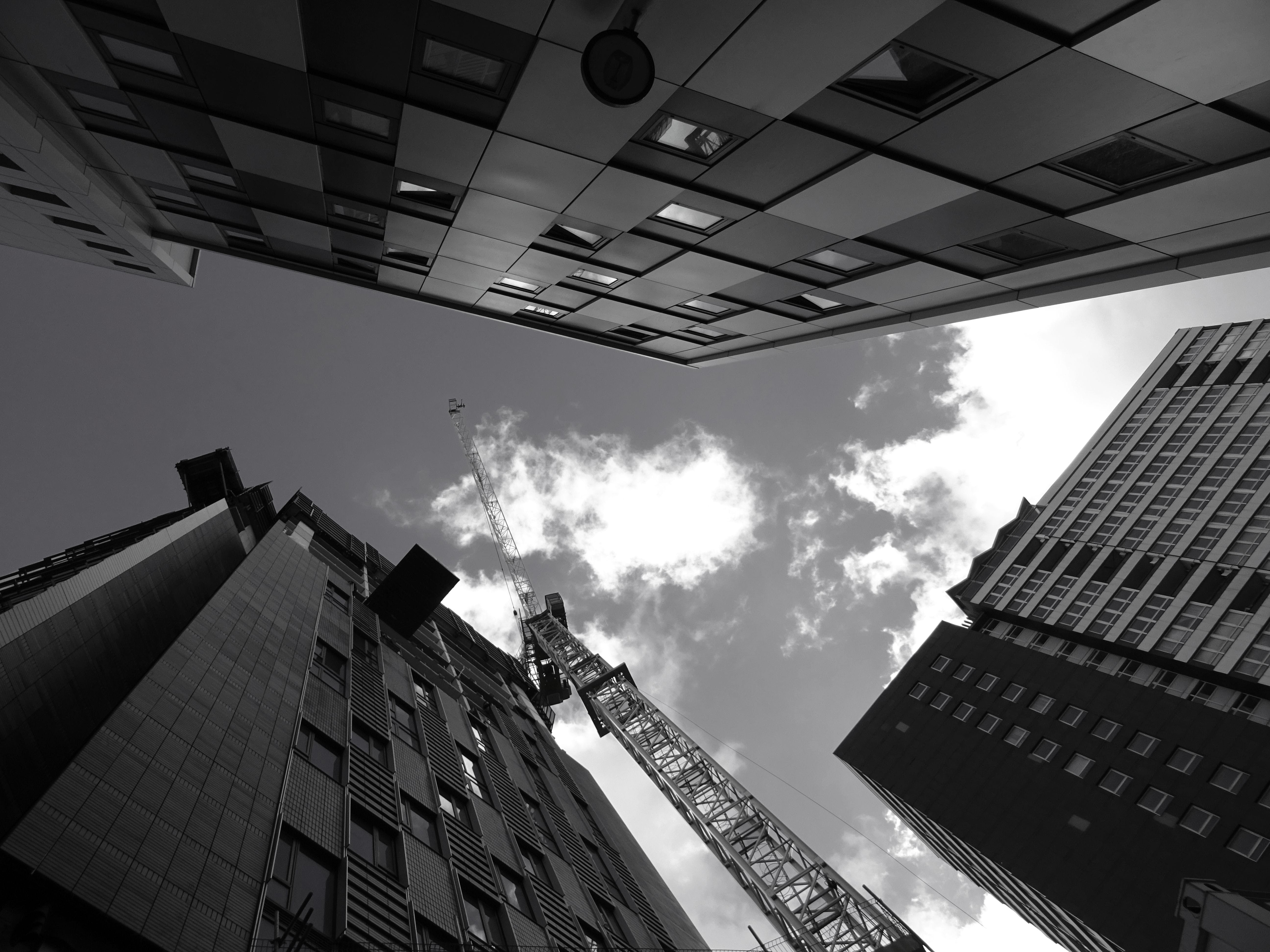 architecture, black-and-white, building exterior