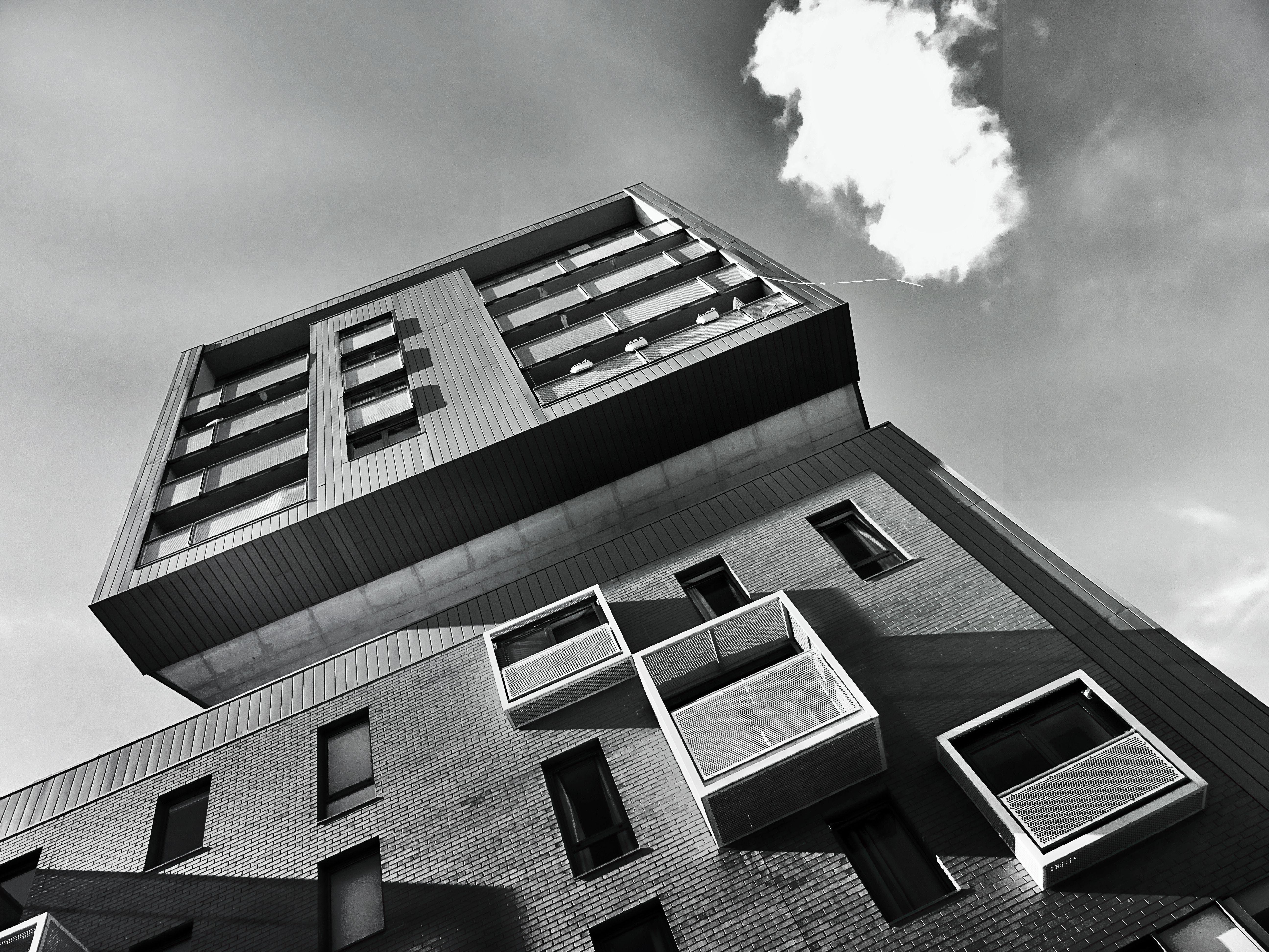 低角度攝影, 單色, 圖案, 天空 的 免费素材照片