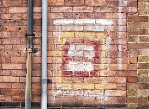 Free stock photo of building, bricks, wall, gutter