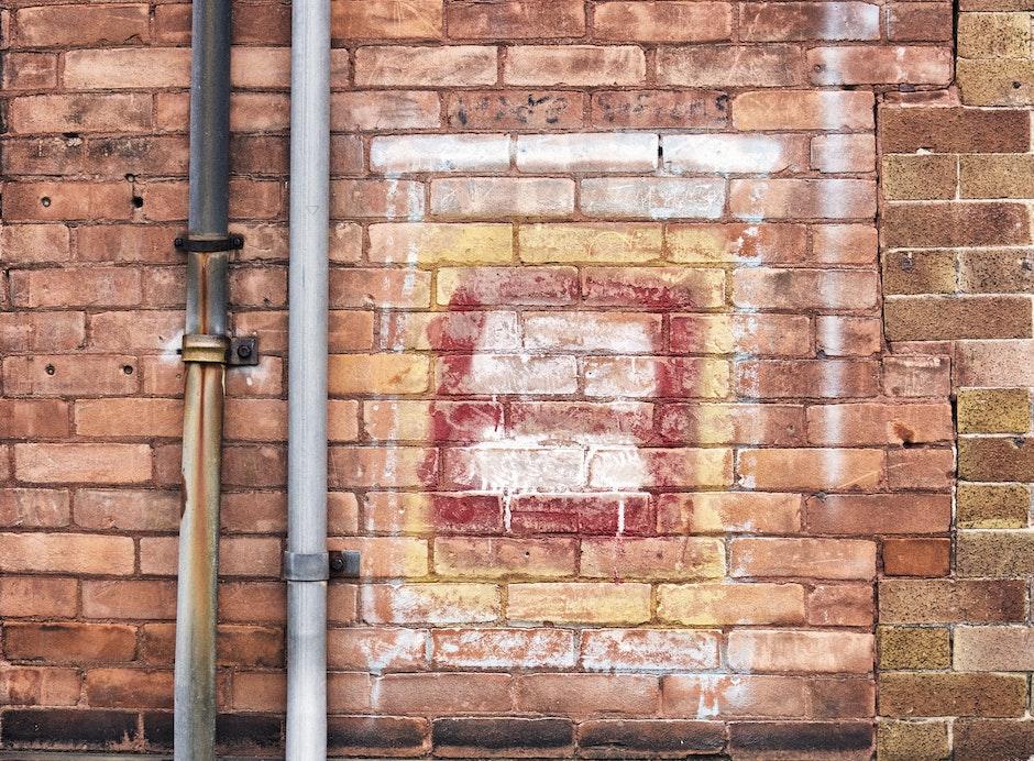 bricks, building, gutter