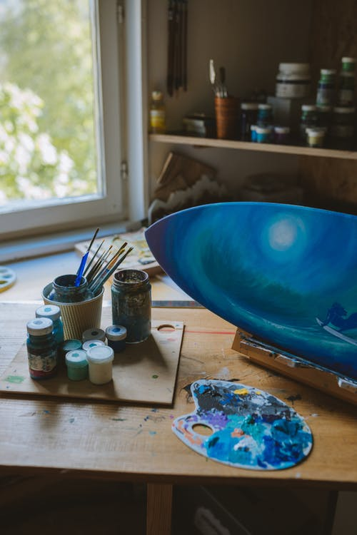 Art Paintings on a Surfboard
