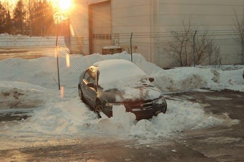 Free stock photo of broken car, chrysler, fence