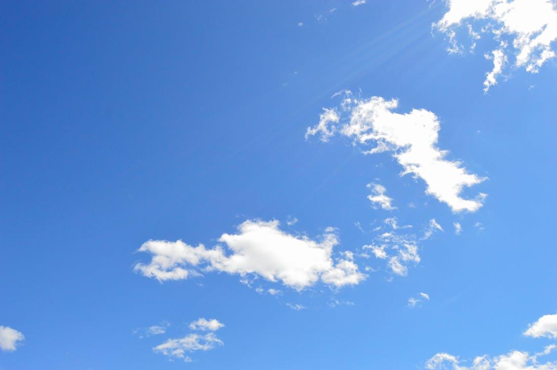 atmosfære, blå, dag