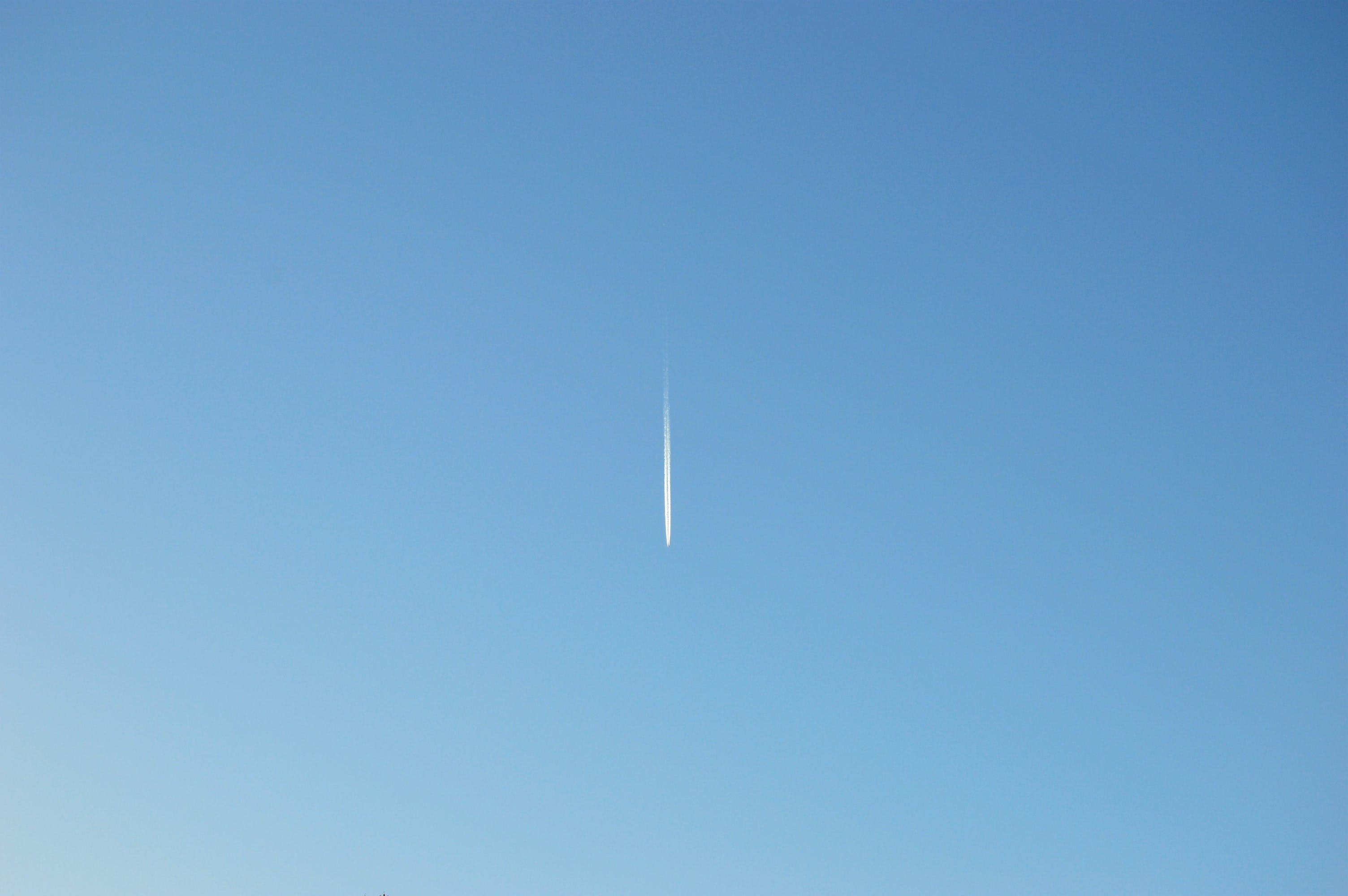 Free stock photo of sky, blue, summer, airplane
