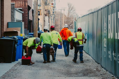 Free stock photo of construction, construction workers, high visibility, workers