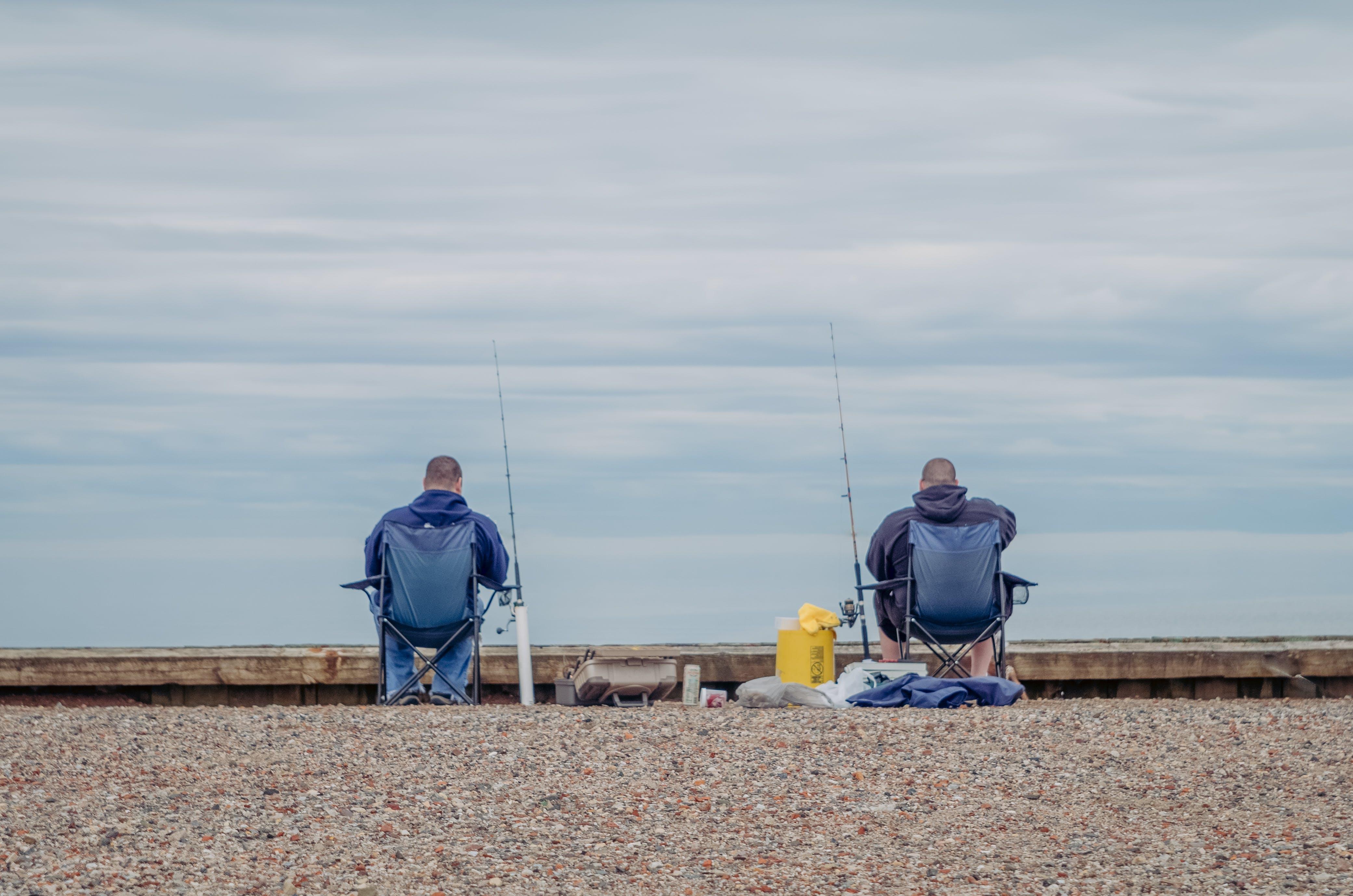 Free stock photo of clouds, fishing, men, sky