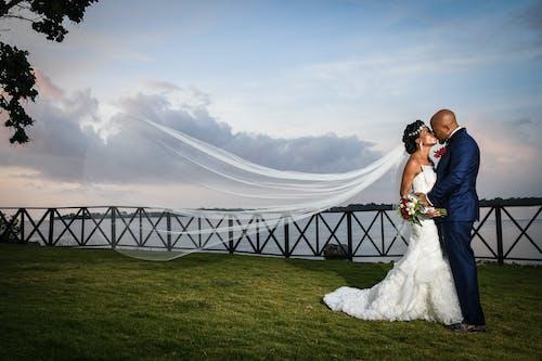 A Black Couple in a Beach Wedding