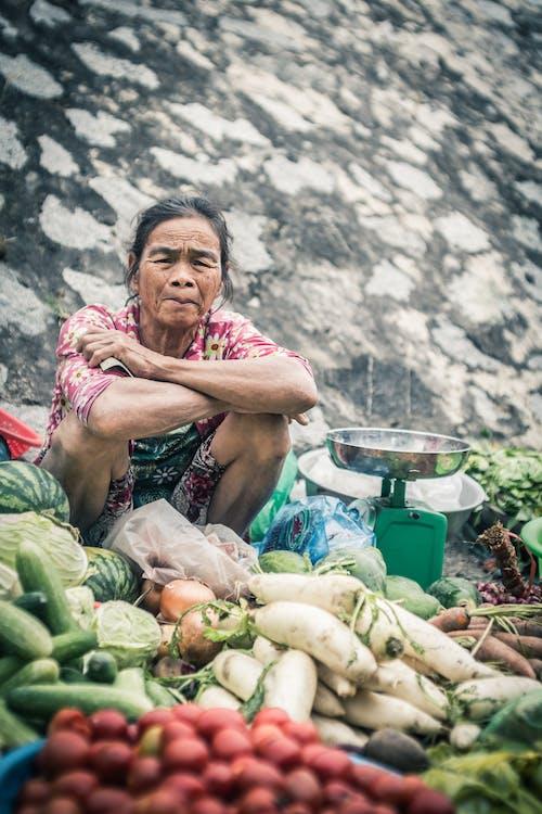 Kostnadsfri bild av ålder, Asien, färska grönsaker