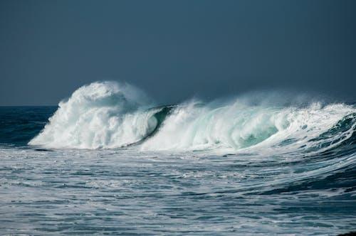 Free stock photo of action, beach, ocean, waves breaking