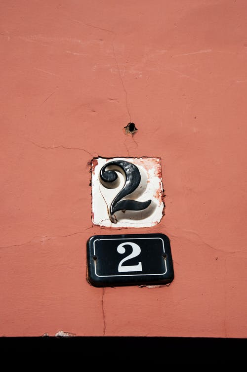 Free stock photo of 2, No.2, numbers, typeography