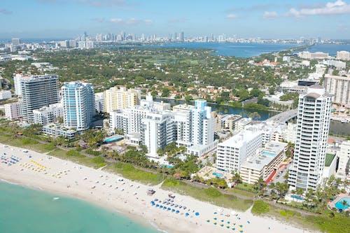 Free stock photo of aerial, beach, miami