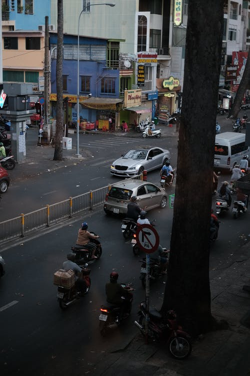 Foto stok gratis lalu lintas kota, manusia, masyarakat, orang-orang