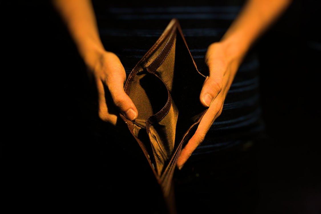 Free stock photo of broke, empty, hands
