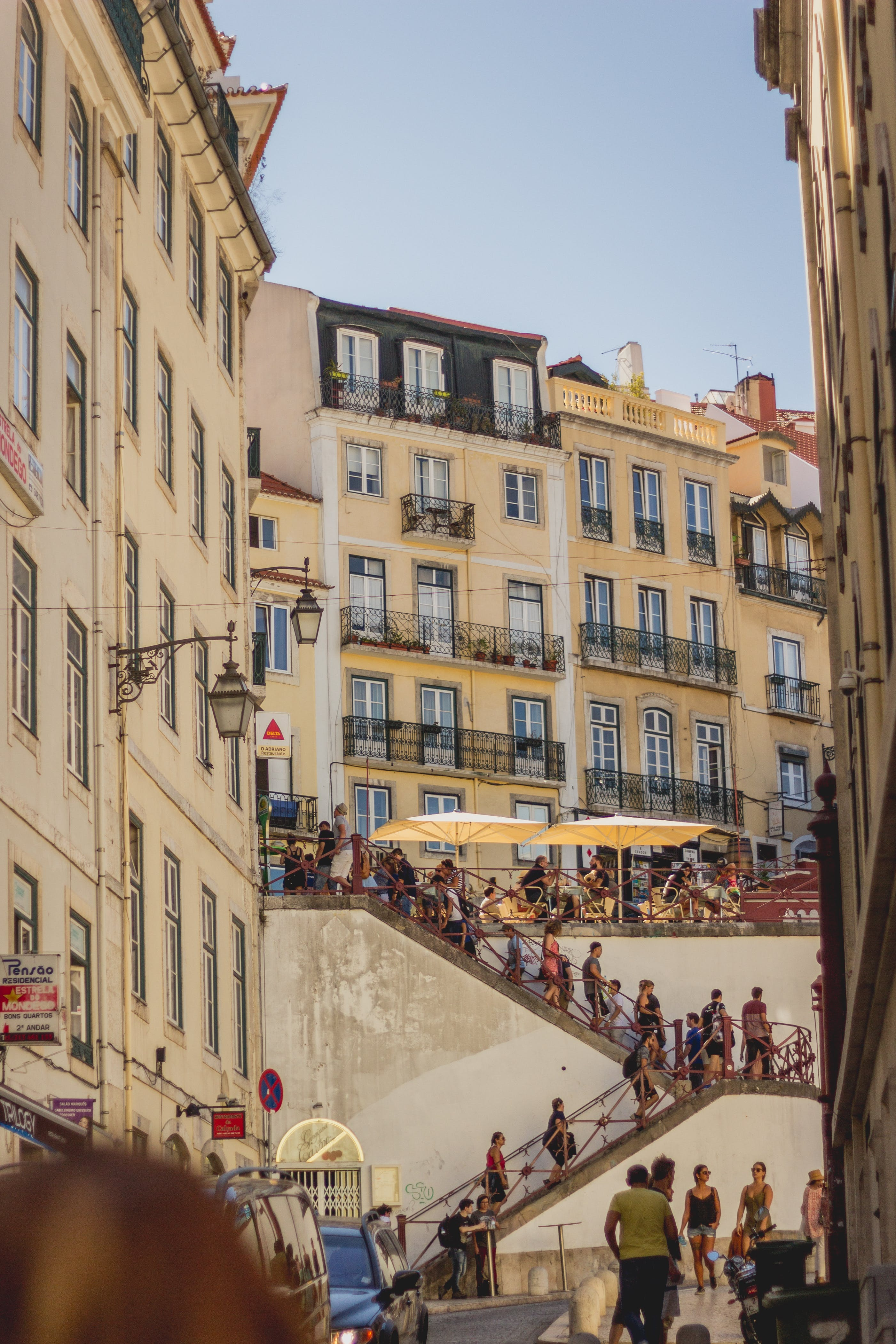 Free stock photo of city, Lisbon, portugal, stairs
