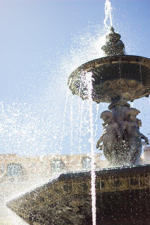Kostnadsfri bild av fontän, solig, stänk, vatten