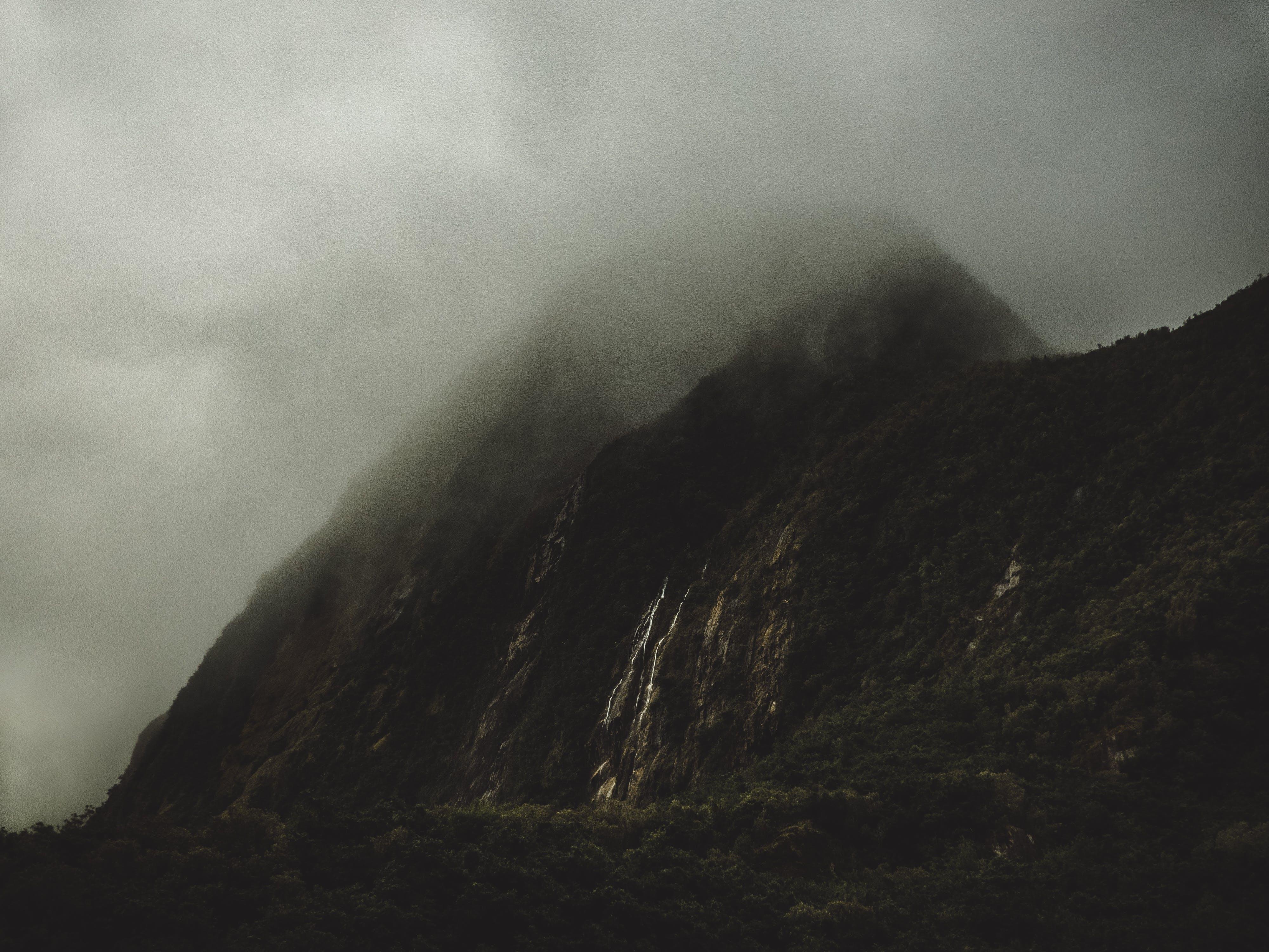 cliff, foggy, gloomy