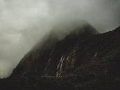 mountains, nature, foggy
