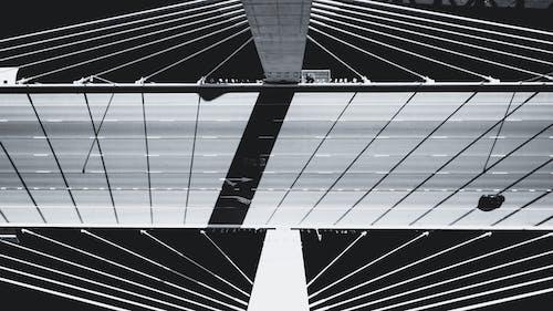 Top View Photo of Suspension Bridge