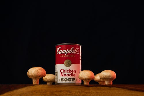 Red and White Mushroom Can