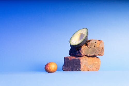 Free stock photo of avocado, blue, food, stilllife