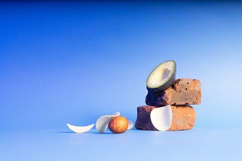 Free stock photo of avocado, blue, food, simple