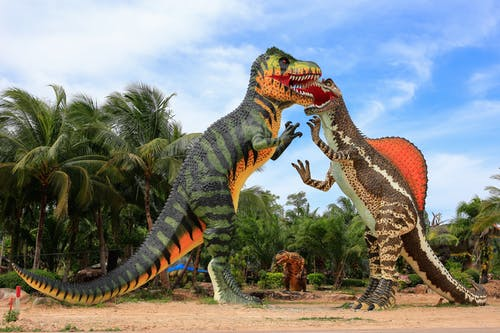 Бесплатное стоковое фото с модель динозавра, сад динозавров