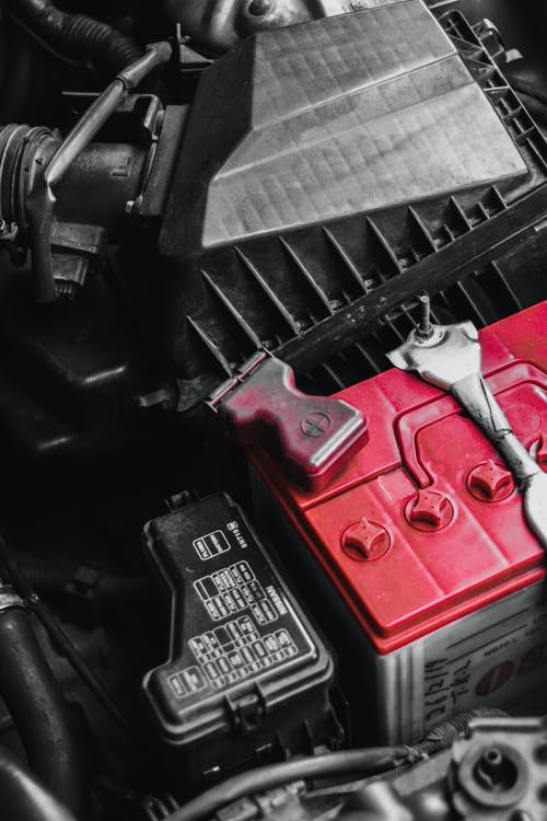 Close Up Photo of Car's Battery