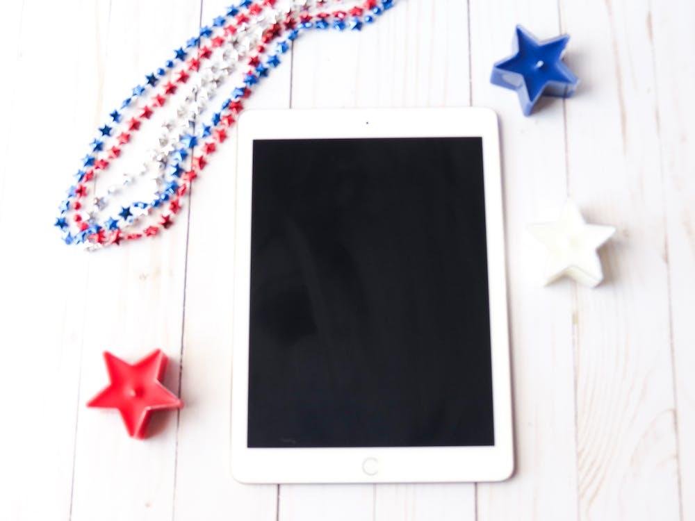 advertisement, American flag, background