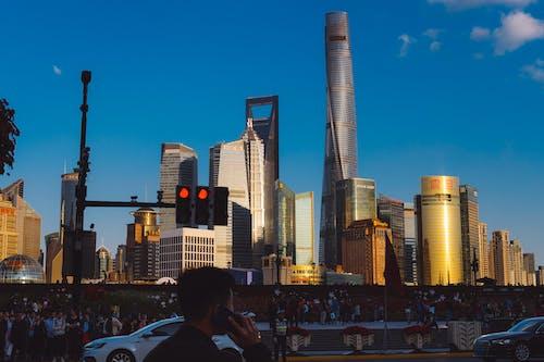 Free stock photo of city, sunset