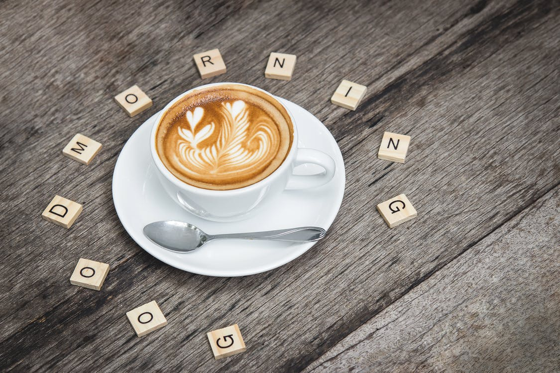 cappuccino, dobré ráno, espreso