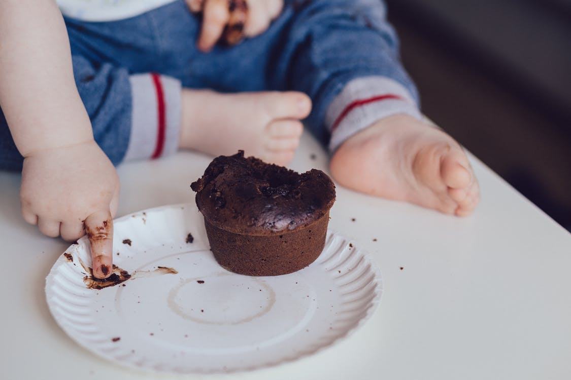 Photo Of Choclate Cake On Disposable Plate