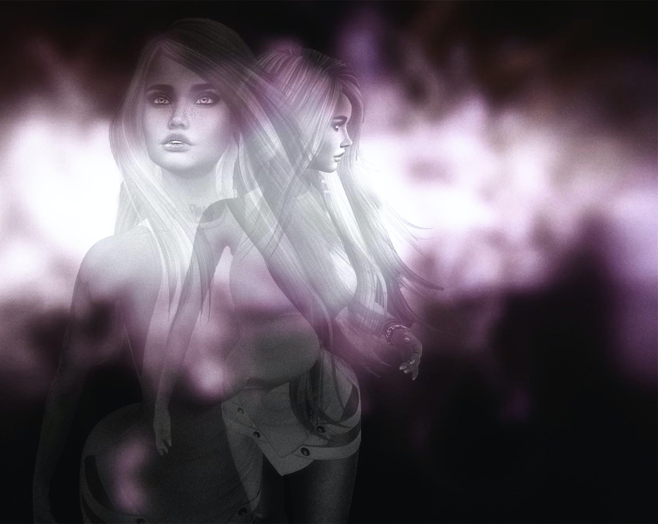 Free stock photo of woman, digital art, abstract photo