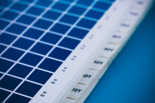White and Blue Printer Paper
