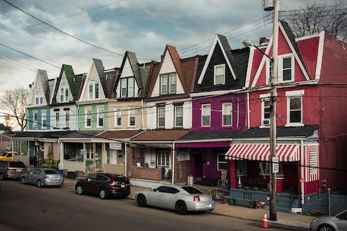 Free stock photo of city, houses, neighborhood, street