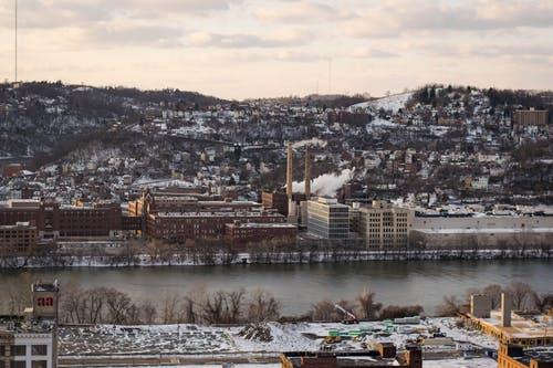 Free stock photo of cityscape, pittsburgh, snow