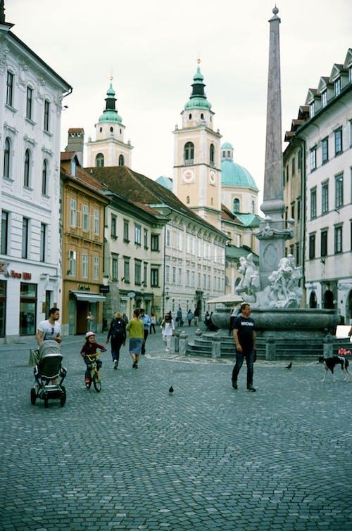 Free stock photo of city, crowd, europe, slovenia