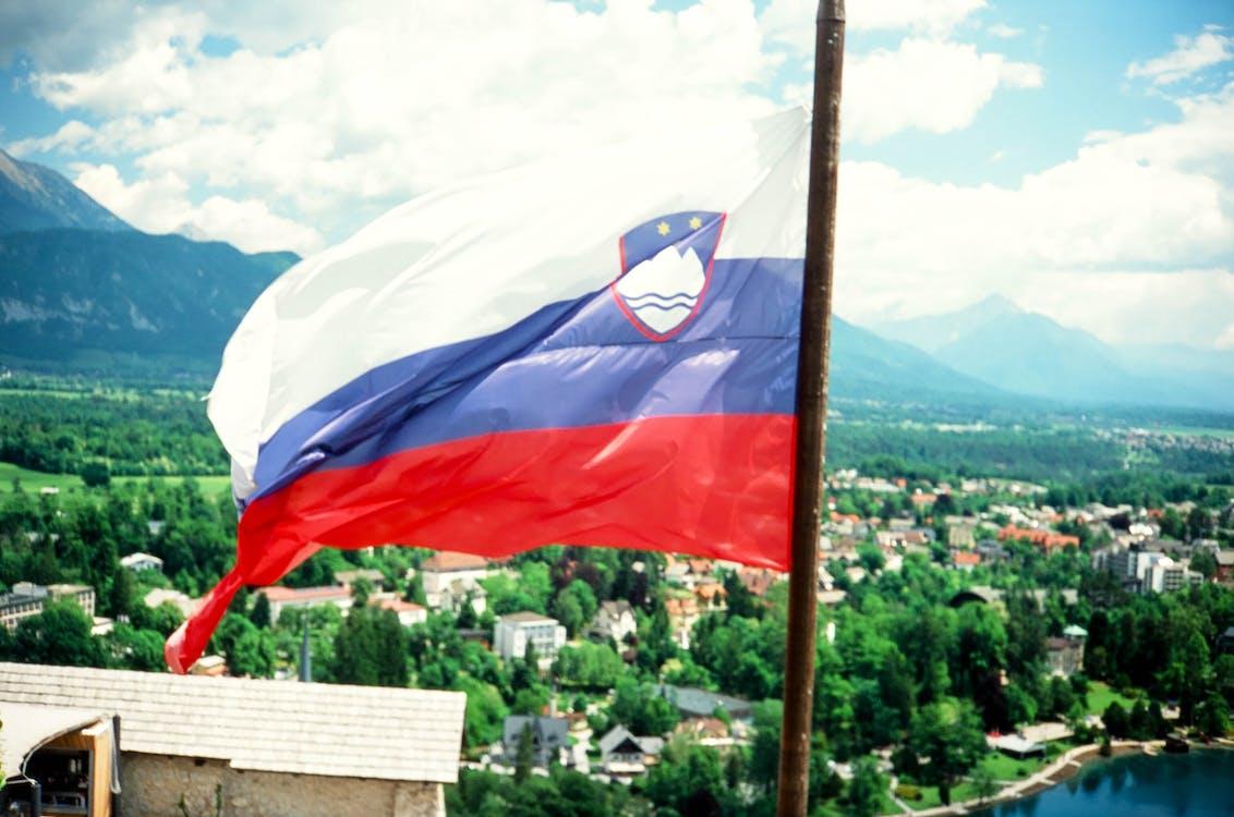 mountains, slovenia, slovenian flag